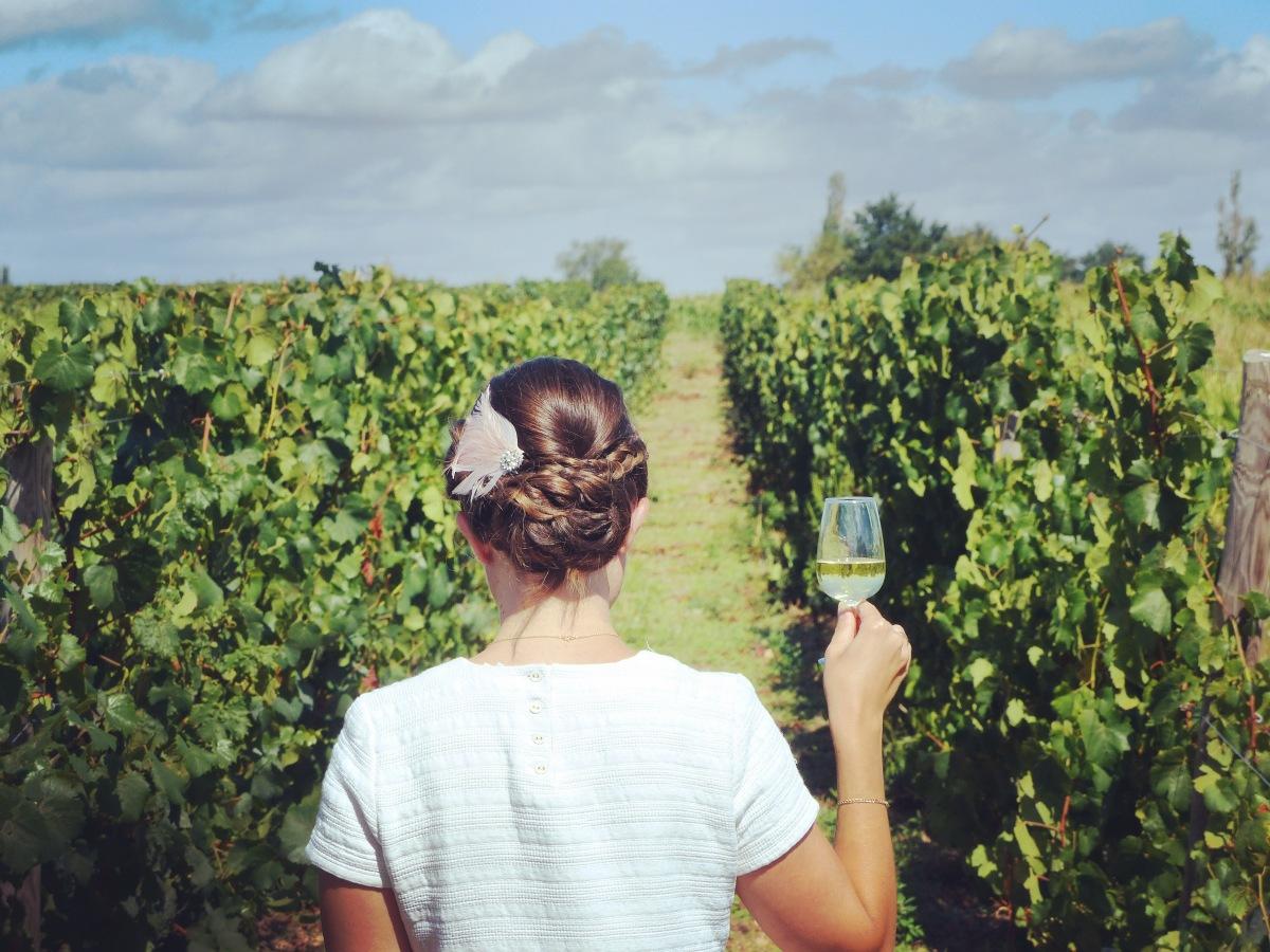 Verre de vin. Château Morange Blaye Côtes de Bordeaux.
